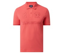 Poloshirt mit Logo-Stickereien Modell 'Rosano'