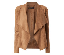 Blazer in Velourslederoptik