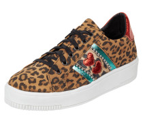 Sneaker mit Leopardenmuster