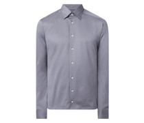 Slim Fit Business-Hemd aus Jersey