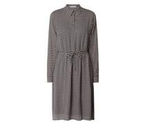 Kleid aus Krepp mit grafischem Muster