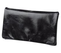 Clutch aus Leder mit Überschlag