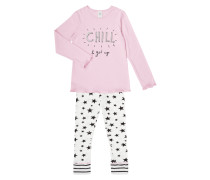 Pyjama mit Message-Print