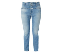 Stone Washed Girlfriend Fit Jeans