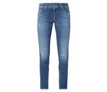 Skinny Fit Jeans mit Zierstreifen