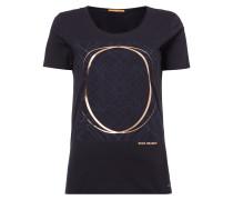 T-Shirt mit Print samt Details in Metallicoptik