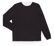 Sweatshirt mit Kontrastbesatz im 2-in-1-Look