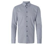 Slim Fit Business-Hemd mit Rautenmuster