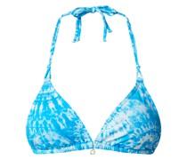 Bikini-Oberteil in Triangel-Form im Batik-Look Modell 'Yero Bluewash'