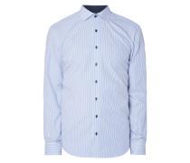 Slim Fit Business-Hemd mit Streifen