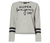 Sweatshirt mit Logo-Flockprint