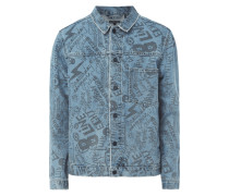 Trucker Jacket mit Prints