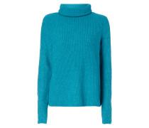 Rollkragen-Pullover aus Rippenstrick