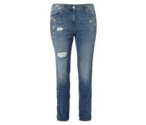PLUS SIZE - Slim Fit Jeans im Destroyed Look