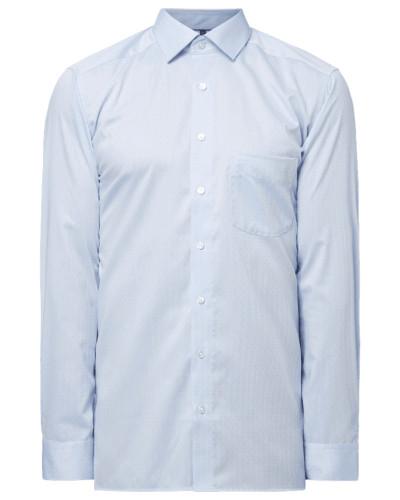 Modern Fit Business-Hemd mit Fischgrat-Dessin