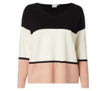 PLUS SIZE - Pullover mit Blockstreifen