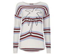 Pullover mit eingestickter Palme