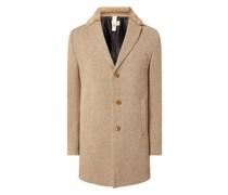 Slim Fit Wollmantel mit Seide-Anteil Modell 'Malcom' - 'Savile Row'