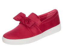 Slip-On Sneaker aus Satin mit Zierschleife
