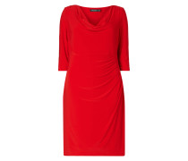 PLUS SIZE - Kleid mit Wasserfallausschnitt