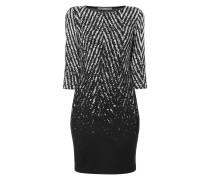 Kleid mit stilisiertem Zickzack-Muster