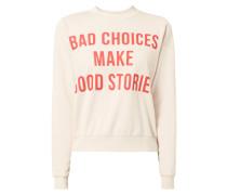 Sweatshirt mit Message-Print