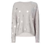 Pullover mit Punktemuster in Metallicoptik