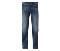 Tapered Fit Jeans mit Stretch-Anteil Modell 'Taber'