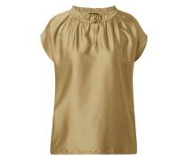 Blusenshirt mit Kontrastvorderseite aus Satin