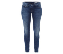 Skinny Fit Jeans im Stone Washed Look
