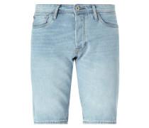Stone Washed Regular Fit Jeansbermudas