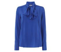 Blusenshirt aus Seide-Elasthan-Mix