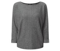 Sweatshirt mit Fischgrat-Dessin