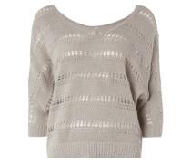 Pullover mit Streifenmuster aus Lochstrick