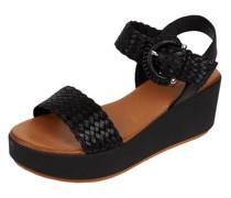 Sandale aus Leder mit Plateausohle