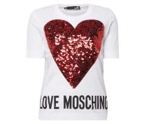 Shirt mit Herz aus Pailletten