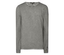 Longsleeve im Washed Out Look Modell 'Albo'