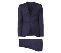 Anzug aus Wolle mit feinem Webmuster