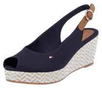 Wedges aus Canvas mit Peeptoe