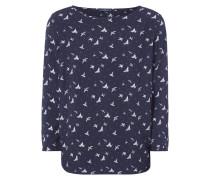 Blusenshirt mit Vogelmuster im Vintage Look