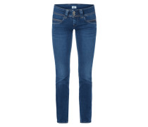 Stone Washed Low Rise Straight Fit Jeans