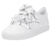 Sneaker mit Blüten-Applikationen
