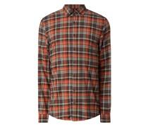 Regular Fit Freizeithemd aus Baumwolle Modell 'Heli'
