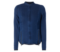 Jacke aus Sweat in Denimoptik