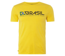 T-Shirt mit Brasilien-Print