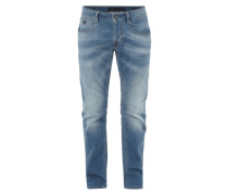 Slim Fit Jeans aus Sweat-Denim