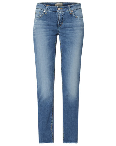Slim Fit Jeans mit Used-Effekten