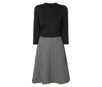 Kleid mit gemustertem Rockteil
