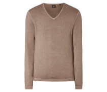 Pullover aus reiner Wolle im Washed Out Look