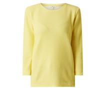 Sweatshirt aus Baumwolle mit 3/4-Arm